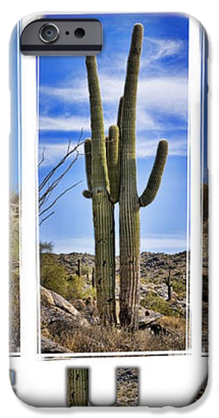 Five Saguaros iPhone Case by Kelley King