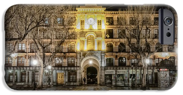 Night Lamp iPhone Cases - Five Till Seven iPhone Case by Joan Carroll