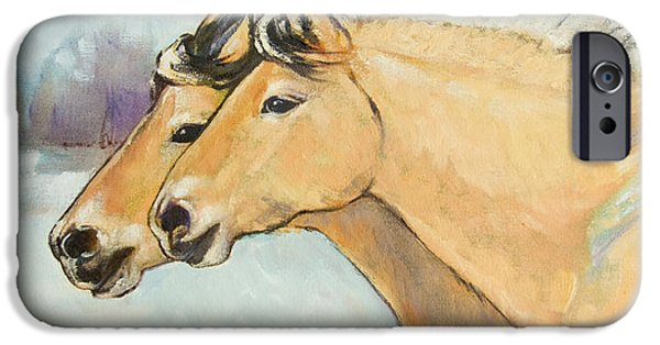 Horse iPhone Cases - Fjord Race iPhone Case by Tracie Thompson