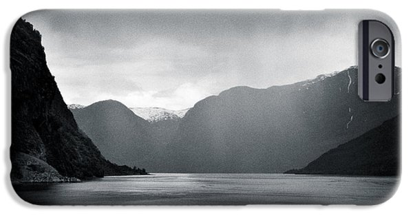 Escape iPhone Cases - Fjord Rain iPhone Case by Dave Bowman