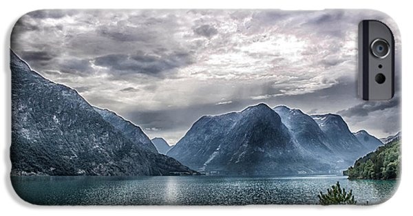 Norway iPhone Cases - Fjords of Norway iPhone Case by Catherine Arnas