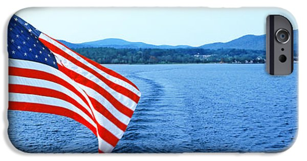 Flag Colors iPhone Cases - Flag And View From The Minne Ha Ha iPhone Case by Panoramic Images