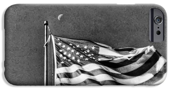 American Flag iPhone Cases - Flag By Taco Johns iPhone Case by D Baker Soph