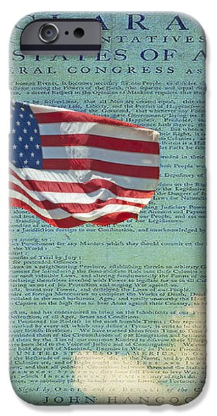 Flag - Declaration of Independence -  Luther Fine Art iPhone Case by Luther  Fine Art