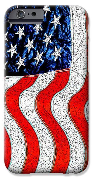 American Independance iPhone Cases - Flag iPhone Case by George Robinson