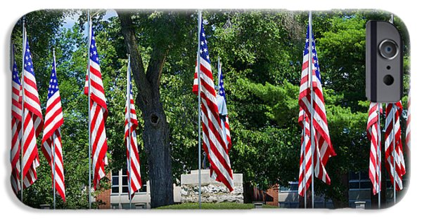 Old Glory iPhone Cases - Flag - Illinois Veterans Home - Luther Fine Art iPhone Case by Luther  Fine Art