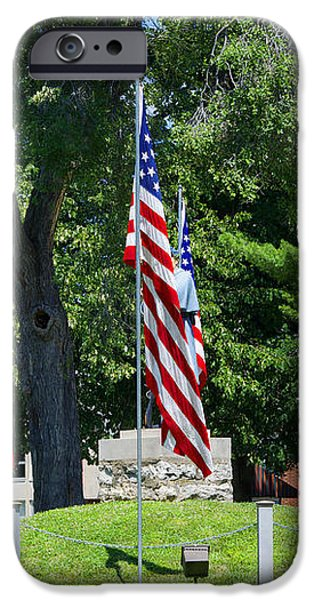 Flag - Illinois Veterans Home - Luther Fine Art iPhone Case by Luther  Fine Art