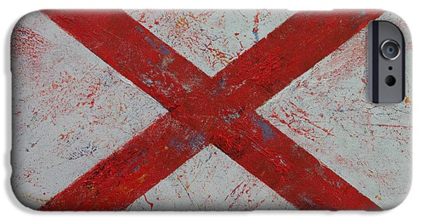 4th July Paintings iPhone Cases - Alabama iPhone Case by Michael Creese