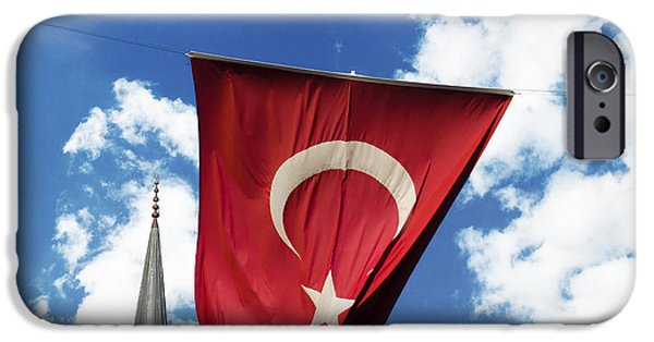 Patriotism iPhone Cases - Flag of Turkey iPhone Case by Jelena Jovanovic