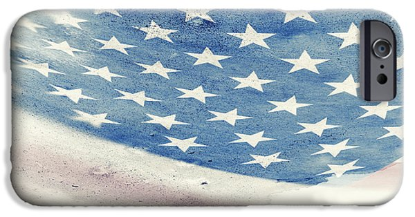 American Flag iPhone Cases - Flag of USA iPhone Case by Modern Art Prints