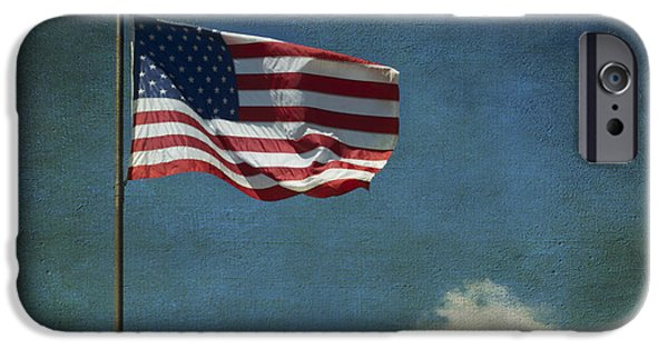 Constitution iPhone Cases - Flag - Still Standing Proud - Luther Fine Art iPhone Case by Luther   Fine Art