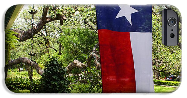 Patriots iPhone Cases - Flag -  Texas The Lone Star State -  Luther Fine Art iPhone Case by Luther  Fine Art
