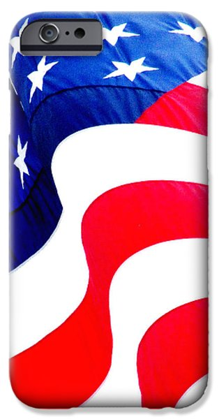 Patriots iPhone Cases - Flag Unfurl iPhone Case by Ron  Tackett