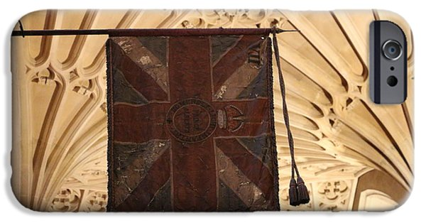 Flag iPhone Cases - Flags flying in the Abbey iPhone Case by Denise Cicchella