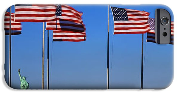Old Glory iPhone Cases - Flags New York Ny iPhone Case by Panoramic Images