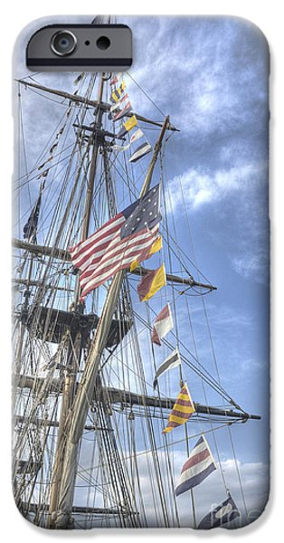 Tall Ship iPhone Cases - Flagship Niagara iPhone Case by David Bearden