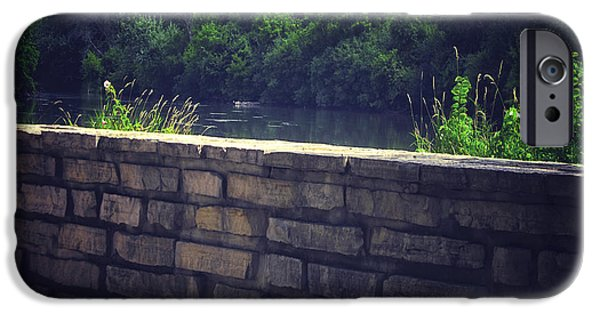 Oak Creek iPhone Cases - Flagstone Wall iPhone Case by Thomas Woolworth