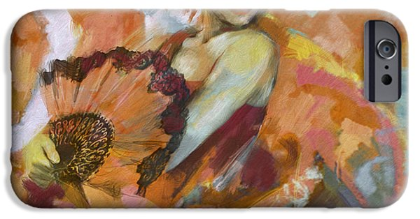 Leonid iPhone Cases - Flamenco 51 iPhone Case by Maryam Mughal