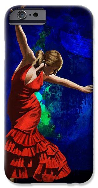 Flamenco Dancer 014 iPhone Case by catf
