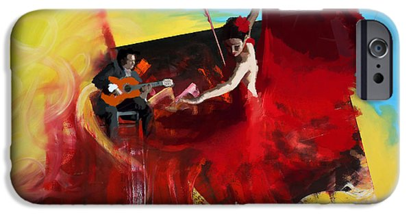 Hip-hop iPhone Cases - Flamenco Dancer 016 iPhone Case by Catf