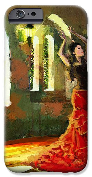 Flamenco Dancer 017 iPhone Case by Catf