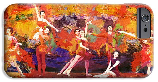 Ballet Dancers iPhone Cases - Flamenco Dancer 022 iPhone Case by Catf