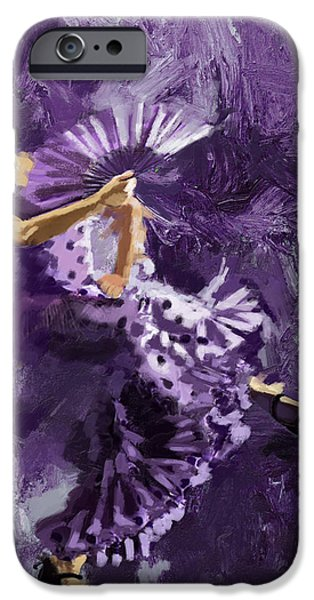 Flamenco Dancer 023 iPhone Case by Catf