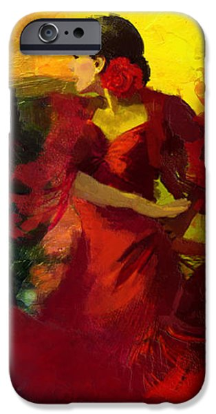 Flamenco Dancer 025 iPhone Case by Catf