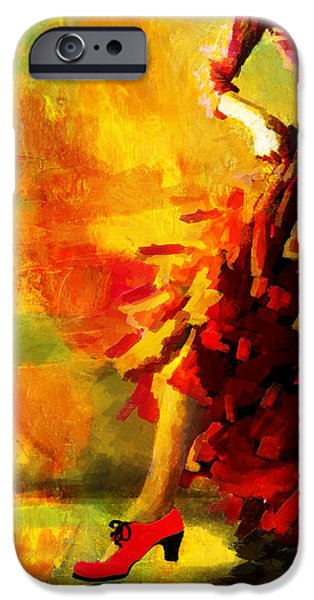 Flamenco Dancer 026 iPhone Case by Catf
