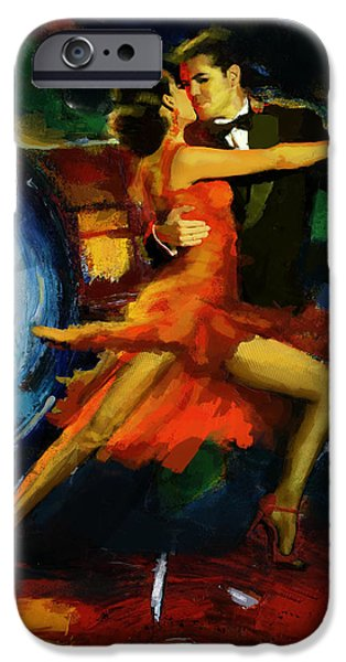 Hip-hop iPhone Cases - Flamenco Dancer 029 iPhone Case by Catf