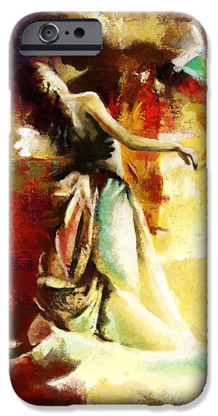 Flamenco Dancer 032 iPhone Case by Catf