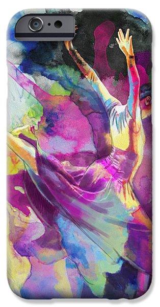Flamenco Dancer iPhone Case by Catf