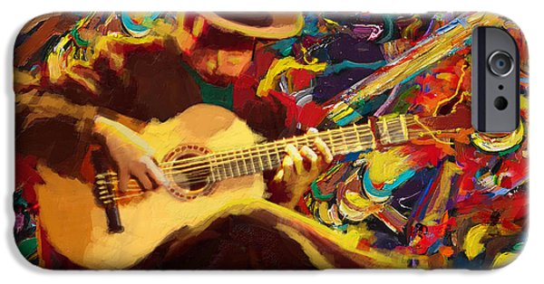 Corporate Art iPhone Cases - Flamenco Guitarist iPhone Case by Corporate Art Task Force