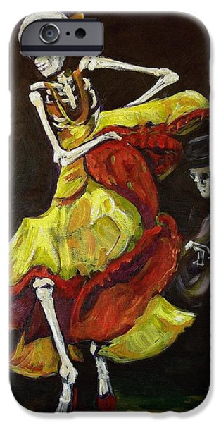 Day Paintings iPhone Cases - Flamenco VI iPhone Case by Sharon Sieben