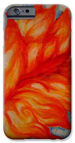 Fireworks Drawings iPhone Cases - Flames iPhone Case by Lydia Erickson