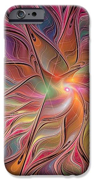 Flames of Happiness iPhone Case by Deborah Benoit