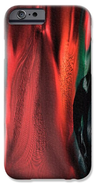Abstract Digital Paintings iPhone Cases - Flames iPhone Case by Yul Olaivar