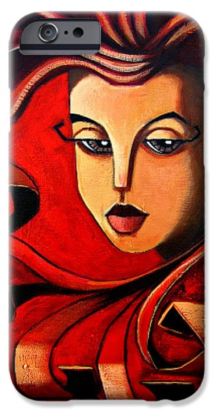 Recently Sold -  - Lips iPhone Cases - Flaming Serenity iPhone Case by Oscar Ortiz