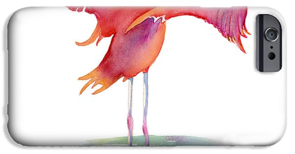Flamingoes iPhone Cases - Flamingo Wings iPhone Case by Amy Kirkpatrick