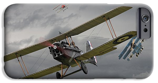 Fokker D V11 iPhone Cases - Flanders Skies iPhone Case by Pat Speirs