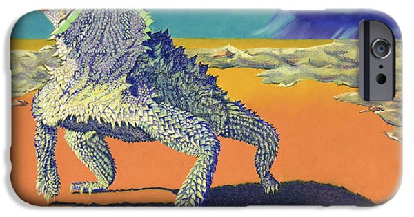 Gold Pastels iPhone Cases - Flash Flood - Horny Toad iPhone Case by Tracy L Teeter