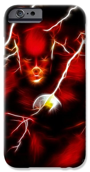 Ironman iPhone Cases - Flash iPhone Case by Pamela Johnson