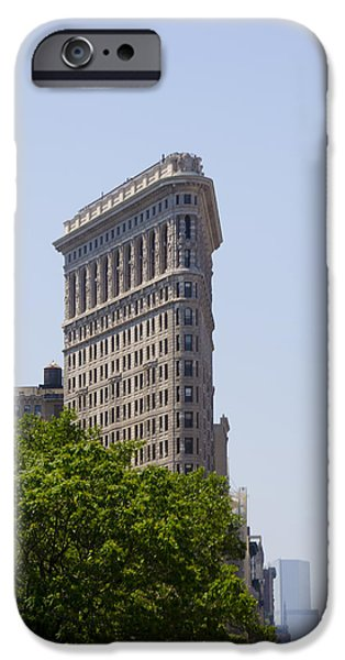 Flat Iron Building iPhone Case by Bill Cannon