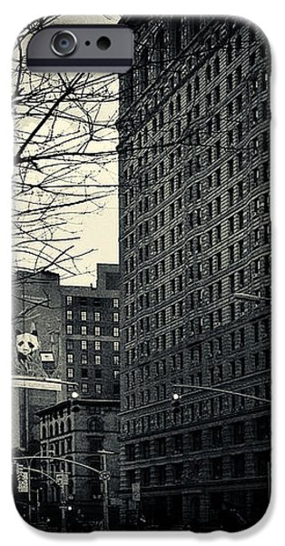 Flat Iron Building Fifth Avenue and Broadway iPhone Case by Sabine Jacobs