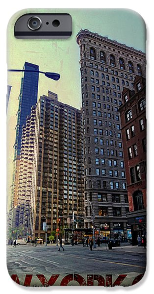 Flat Iron Building Poster iPhone Case by Nishanth Gopinathan