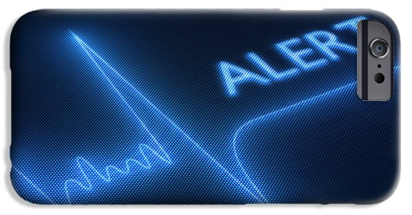 Arrest iPhone Cases - Flat line alert on heart monitor iPhone Case by Johan Swanepoel