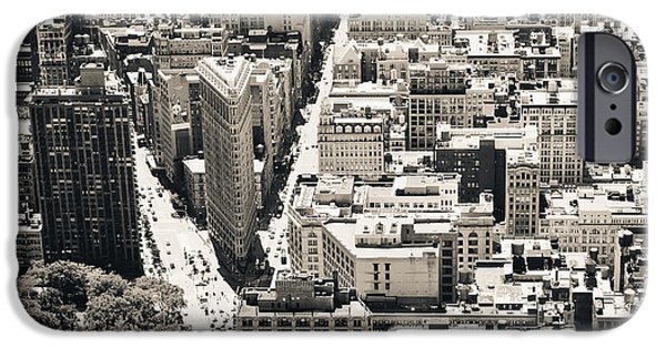 Empire State iPhone Cases - Flatiron Building - New York City iPhone Case by Thomas Richter