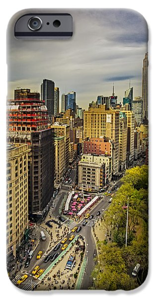 United States iPhone Cases - Flatiron District And the Empire State Building iPhone Case by Susan Candelario