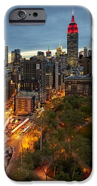 Landscapes Photographs iPhone Cases - Flatiron District Birds Eye View iPhone Case by Susan Candelario