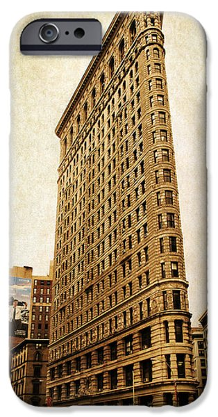 Building Digital Art iPhone Cases - Flatiron DIstrict iPhone Case by Jessica Jenney
